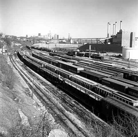 Railroad yard near the NSP power plant