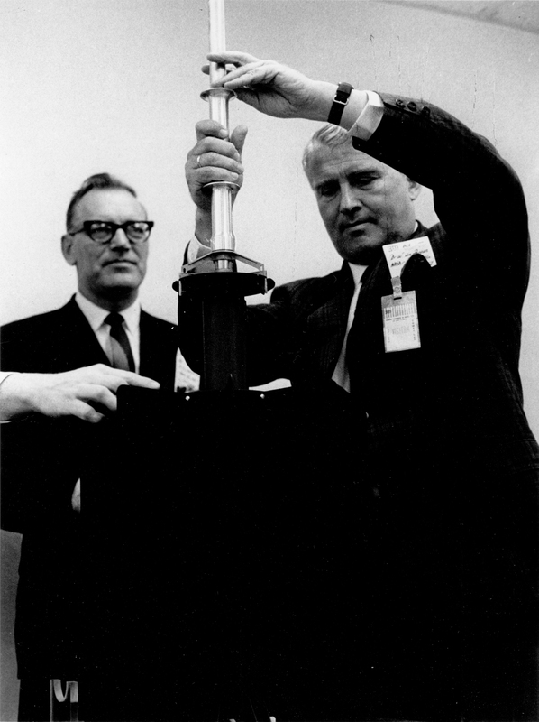 Werner von Braun and Joseph E. Karth