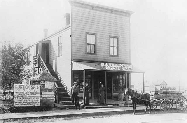 Fritz Woost Groceries and Provisions store