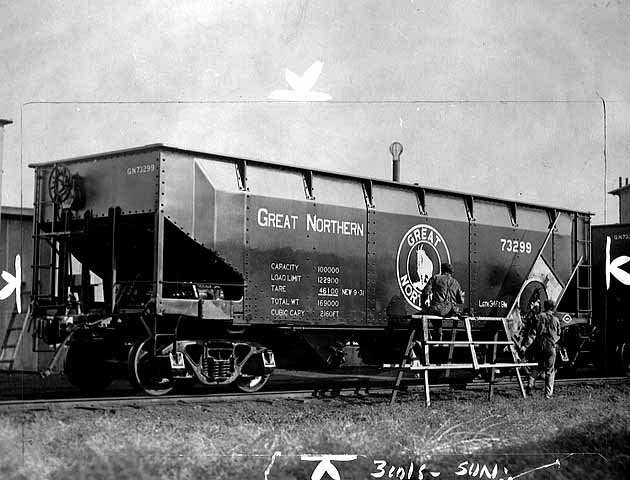 """Hopper"" car of the Great Northern Railway"