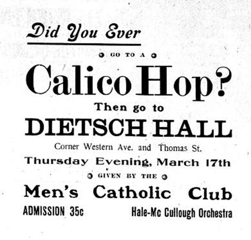 Dietsch Hall Advertisement