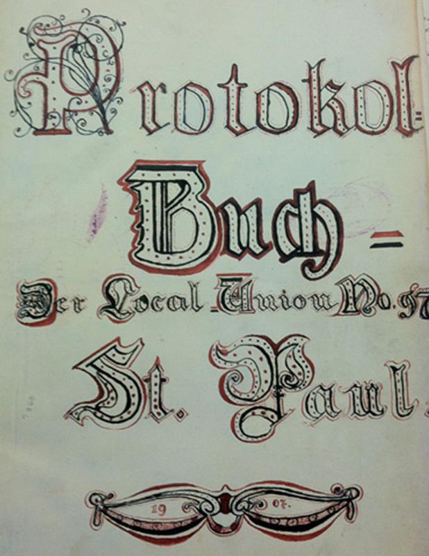 """Protokoll Buch"" (minute book)"