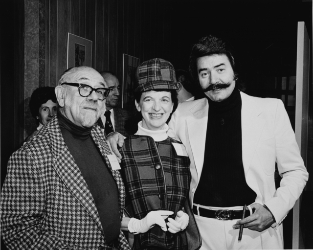 Clement Haupers, Laurine Tibbetts, and LeRoy Neiman