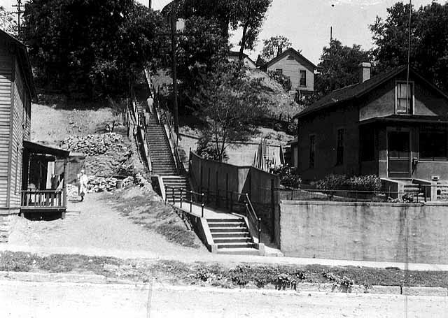 Stairs from Mount Airy Street to Valley Street