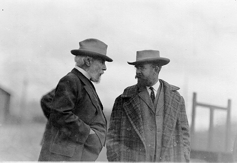 Louis W. Hill and his father James J. Hill