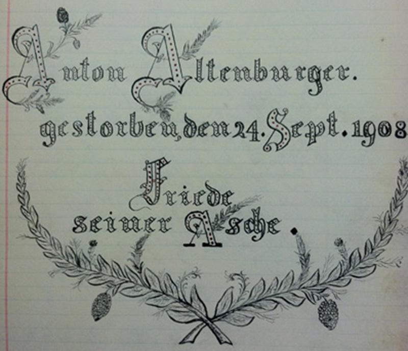 """""""Anton Altenburger gestorben"""""""