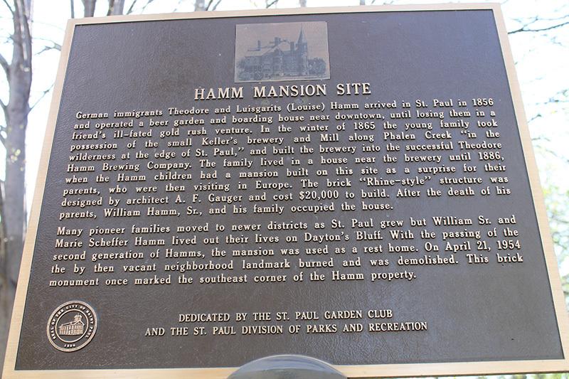 Hamm mansion site plaque