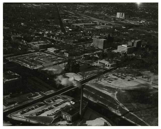 Aerial view of east end of State Capitol building