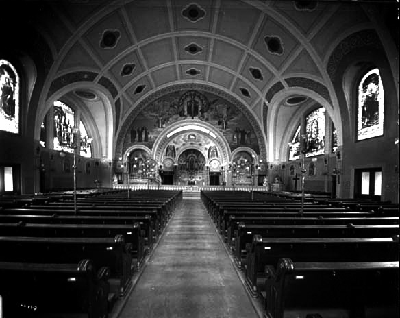 Interior of St. Bernard's Catholic Church