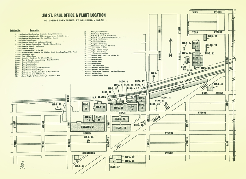 Map of facilities, 1958
