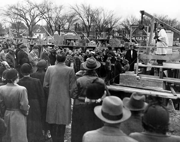 Cornerstone laying at Central Lutheran School