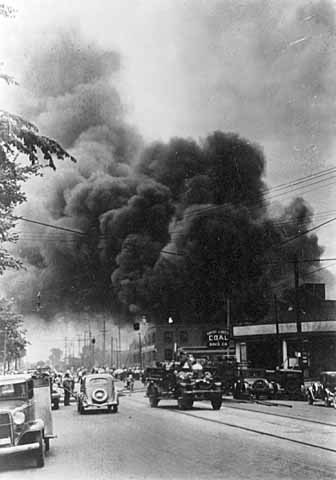 Fire at Rapinwax Paper Company