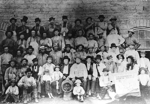 Employees of Christopher Stahlmann's Brewery